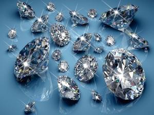 Огранённые алмазы бриллианты