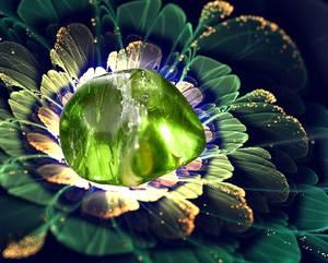 Цветок из хризолита