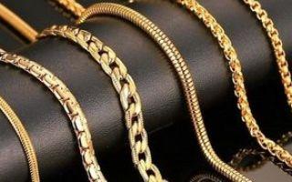 Виды плетения золотых цепочек ручным и машинным способом
